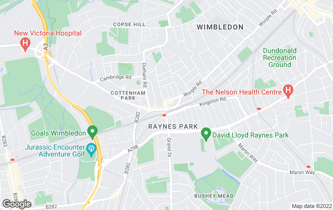 Map for Aspire, Raynes Park