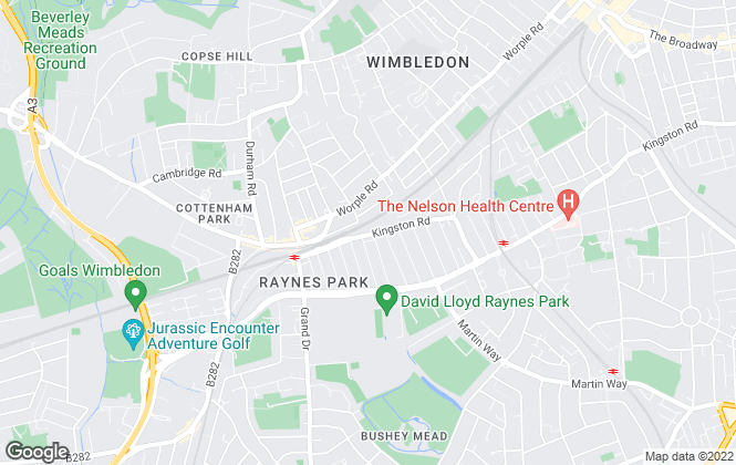 Map for Webster & Darby, Raynes Park