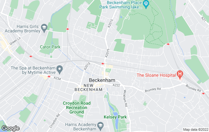 Map for Coady Phillips, Beckenham