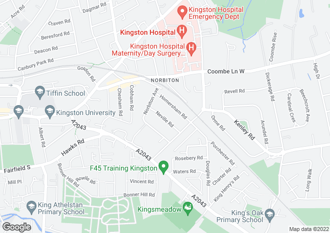 Map for NEVILLE ROAD, KINGSTON UPON THAMES,KT1 3QX,Surrey