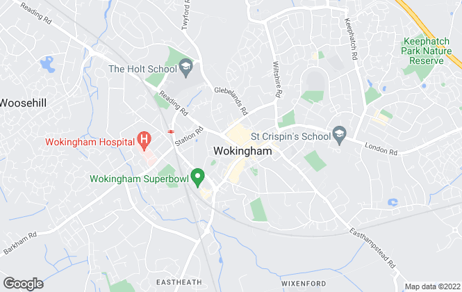 Map for Prospect Homes of Distinction, Wokingham