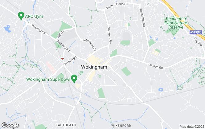 Map for Martin & Co, Wokingham