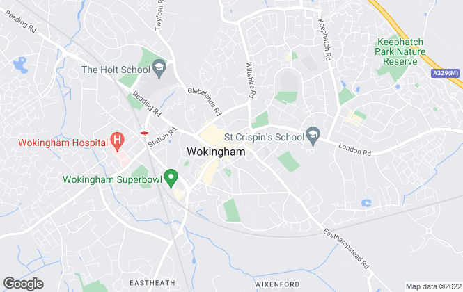 Map for Martin & Co, Wokingham - Lettings & Sales