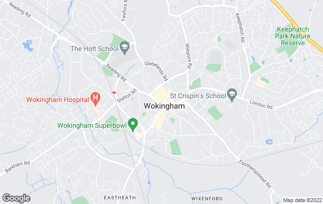 Map for Martin & Pole, Wokingham
