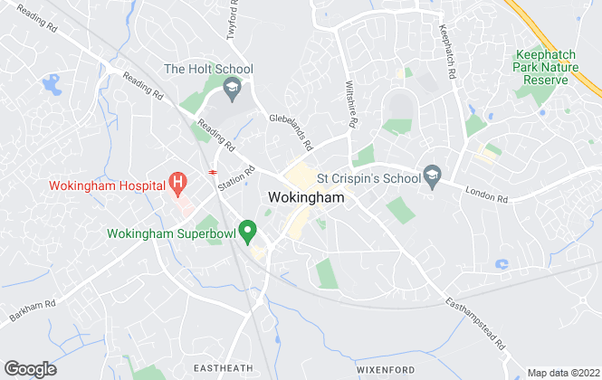 Map for Martin & Pole, Wokingham Office