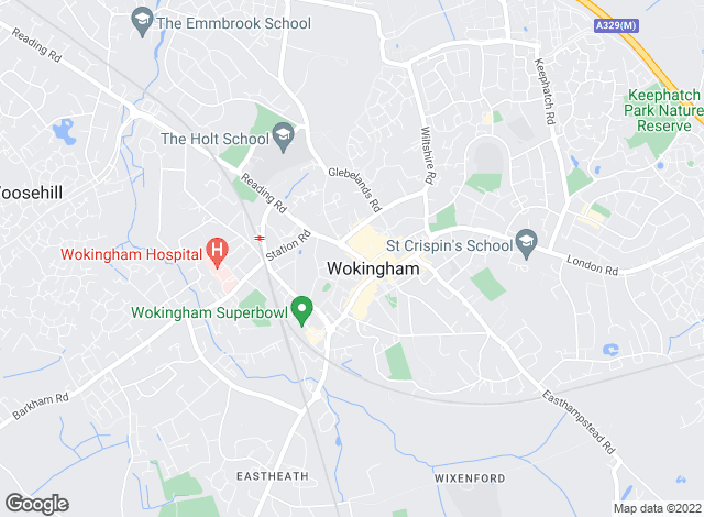 Map for Prospect Estate Agency, Wokingham