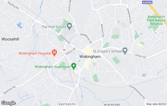 Map for Chancellors , Wokingham New Homes