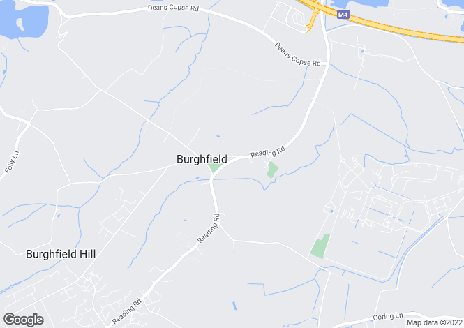 Map for Burghfield Village, Reading, RG30