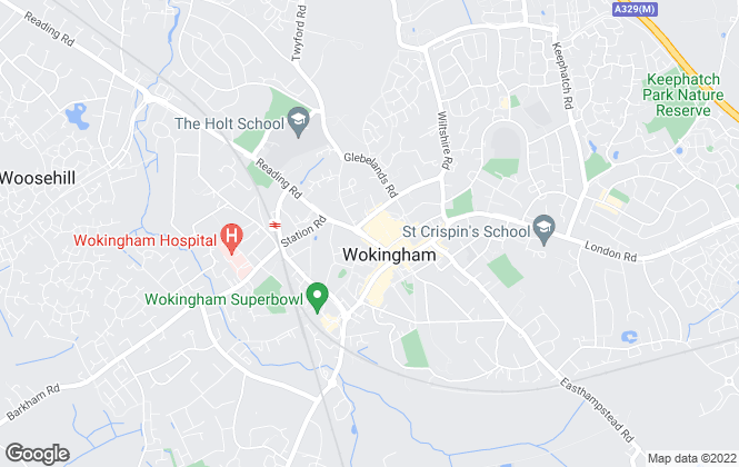 Map for Michael Hardy, Wokingham Lettings