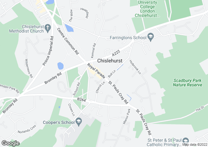 Map for Sovereign House, Royal Parade, Chislehurst, Kent