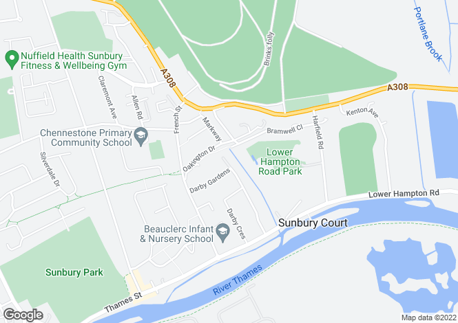 Map for Woodlands Drive,
