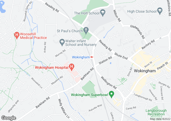 Map for Lily Court, Banbury Close, Wokingham