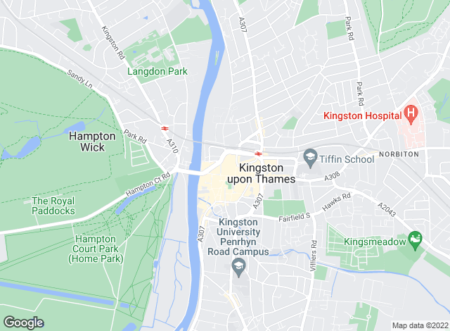 Map for Dexters, Kingston Upon Thames