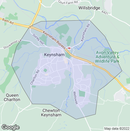 Map of property in Keynsham