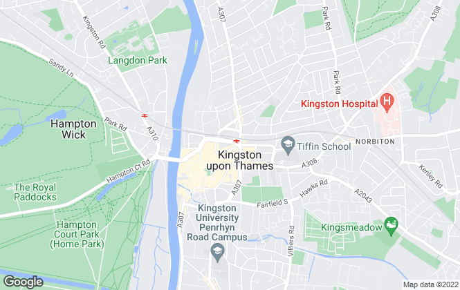 Map for Curchods Estate Agents, Kingston