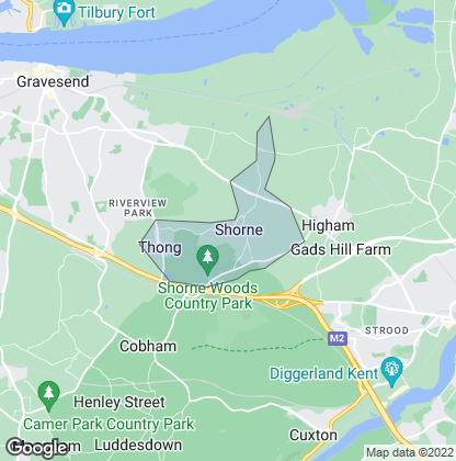 Map of property in Shorne