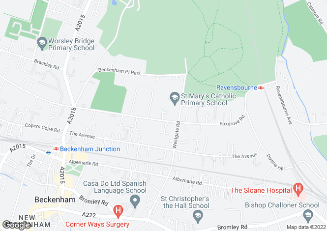 Map for Convent Close, Beckenham, Kent