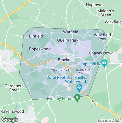 Map of property in Bracknell