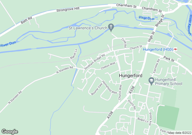 Map for Chilton Way, Hungerford, RG17