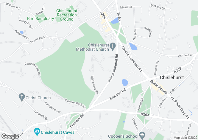 Map for Wilderness Road, Chislehurst, Kent, BR7 5EZ