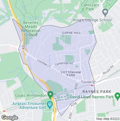 Map of property in Cottenham Park