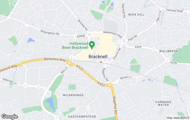 Map for Chancellors, Bracknell Lettings