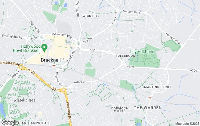 Map for Bruton Solutions, Bracknell