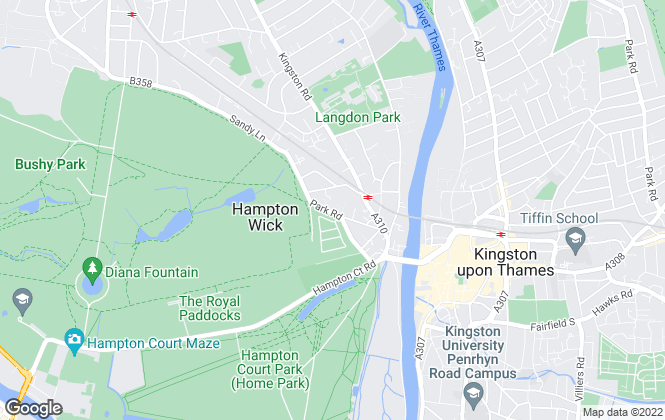 Map for Estate and Agent, Hampton Wick