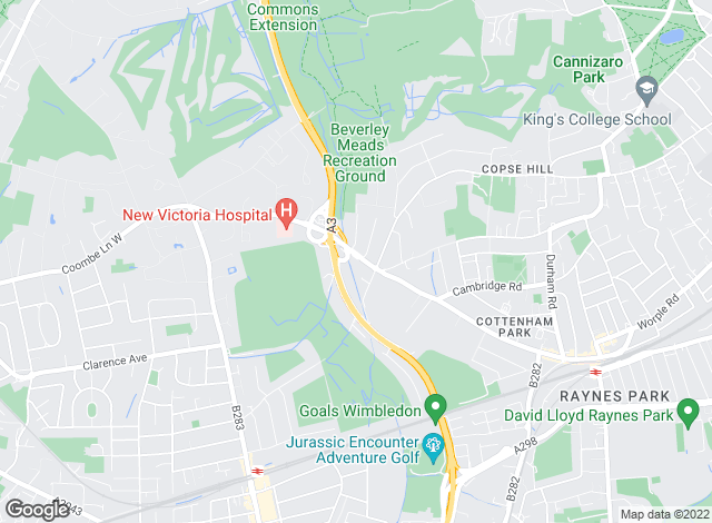 Map for Coombe Residential, Wimbledon