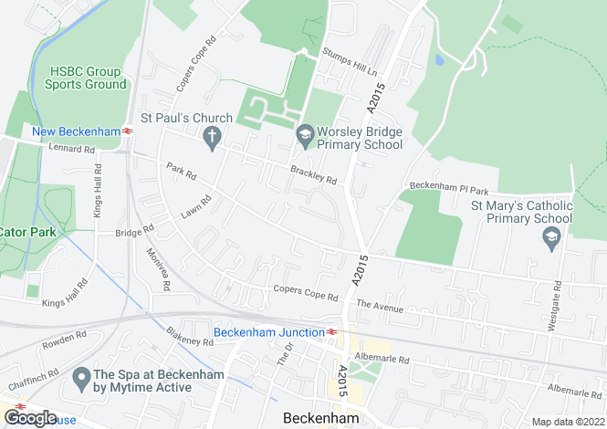 Map for Abbey Park Off Park Road, Beckenham, BR3 1PW