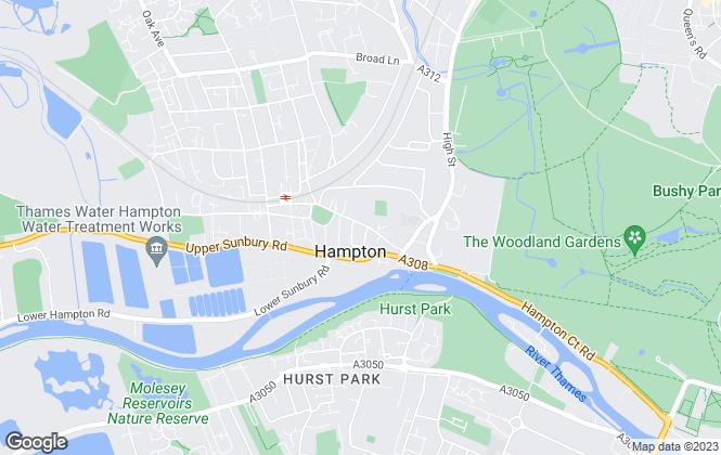 Map for Tredinnick & Bower, Hampton