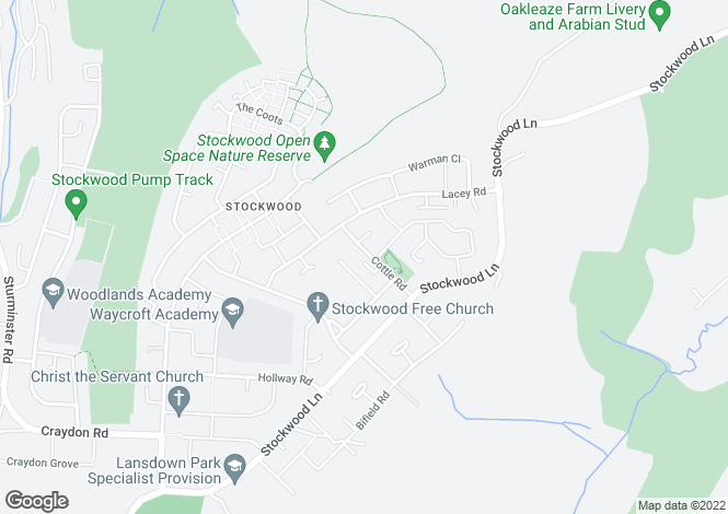 Map for Stockwood, BRISTOL