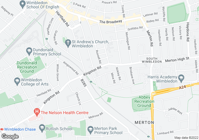 Map for Horatio Place, Wimbledon
