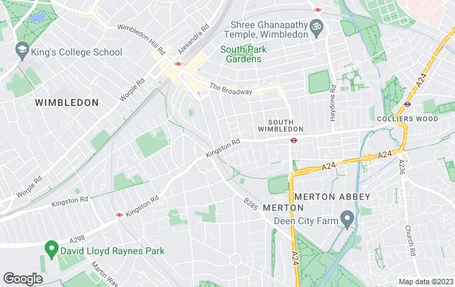 Map for Parkside Estate Agents, Wimbledon
