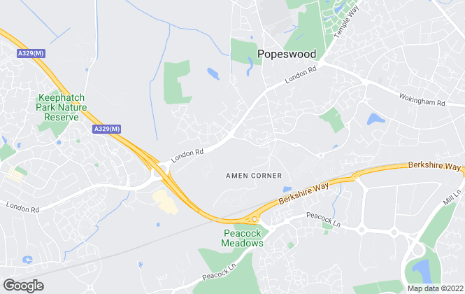 Map for Ashberry Homes (North London)