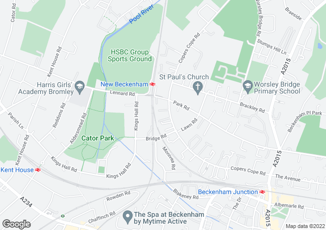 Map for Beechwood, Copers Cope Road, Beckenham, Greater London