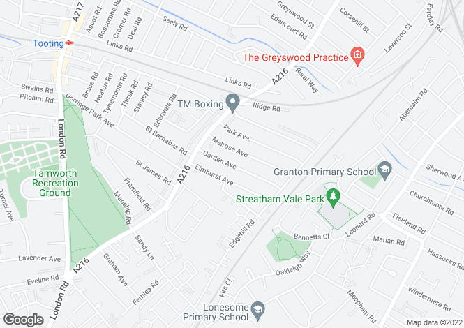 Map for Garden Avenue, MITCHAM, Surrey, CR4 2EE