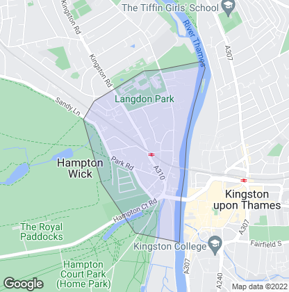 Map of property in Hampton Wick
