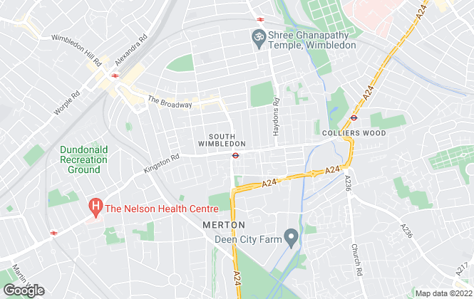Map for Cribs Estates, Wimbledon
