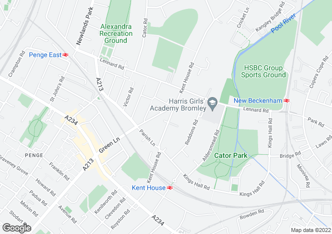 Map for Kent House Road, Beckenham, BR3