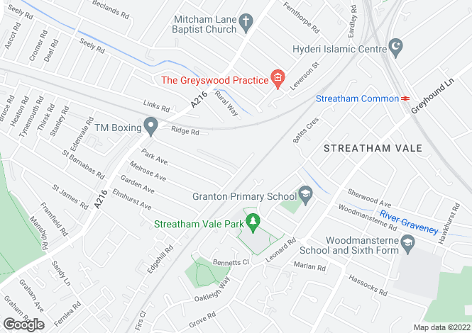 Map for Hill Road, Mitcham CR4