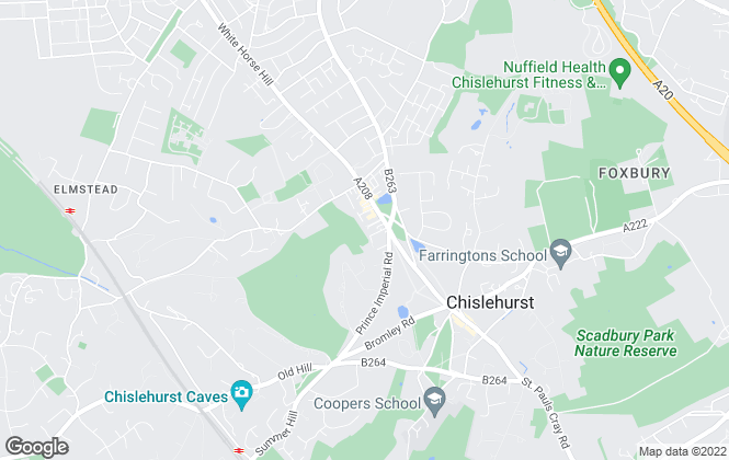 Map for Alan De Maid, Chislehurst