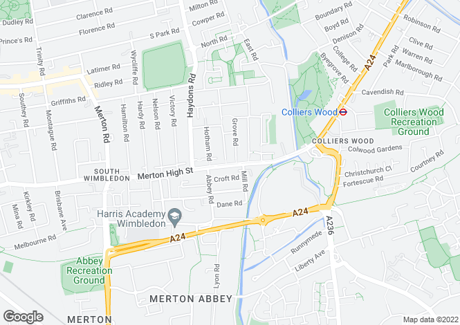 Map for Grove road, South Wimbledon, London, SW19 1AF