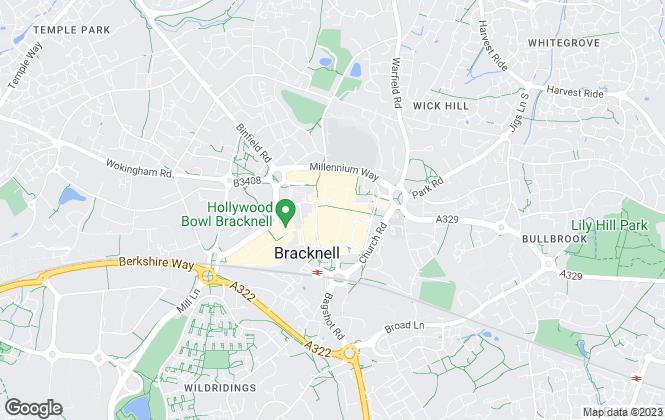 Map for Carson & Co, Bracknell Lettings