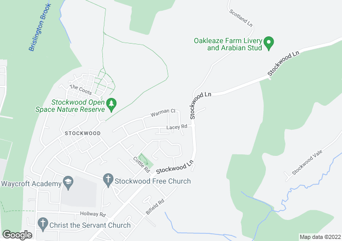 Map for Warman Road, Stockwood, Bristol