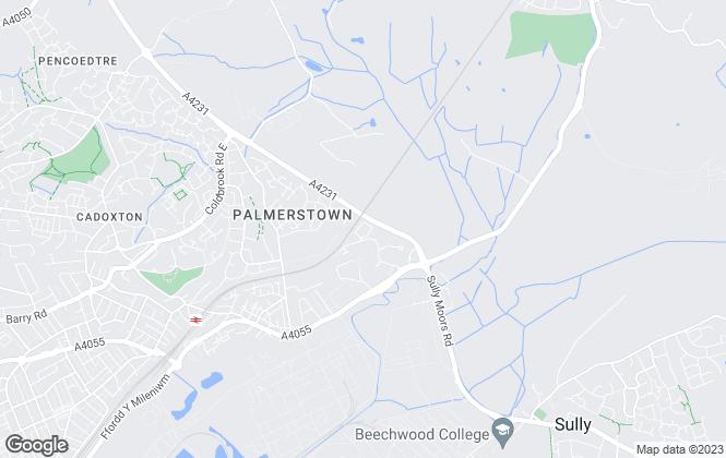 Map for EweMove, Vale of Glamorgan & Cardiff