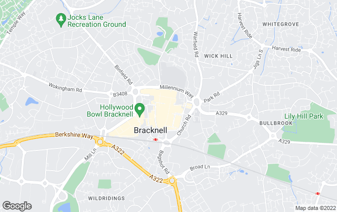 Map for Prospect Estate Agency, Bracknell