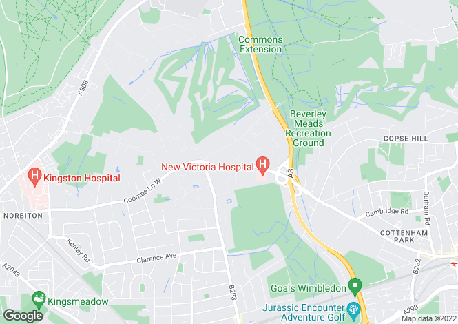 Map for Coombe Lane West, Coombe Hill, KT2