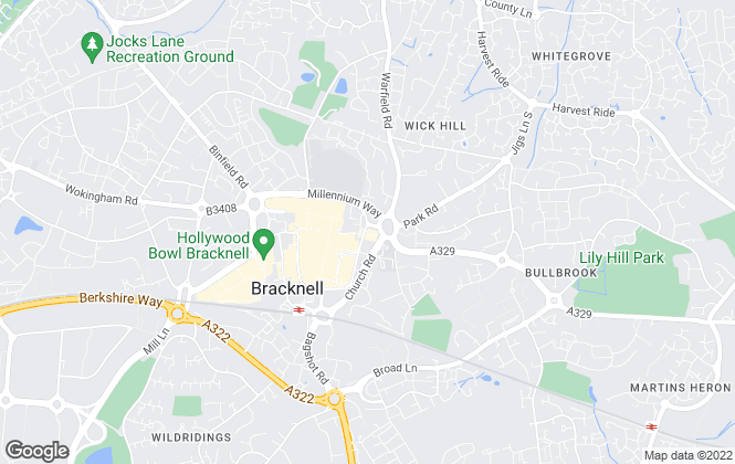 Map for Homewise, Bracknell