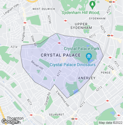 Map of property in Crystal Palace